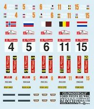"DECALS 1/32 PLAQUES FORD FIESTA RS WRC ""QATAR"" PORTUGAL 2013 - COLORADO  32192"
