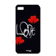 CUSTODIA COVER CASE LOVE CUORI ROSSI SCRITTA BIANCA  PER iPHONE 6 4.7""