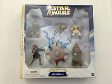 STAR WARS ATTACK OF THE CLONES JEDI WARRIORS 4 FIGURE PACK CONTAINMENT FIELD MIB