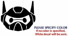 "Big Hero 6 Baymax ROBOT Funny Game TV Vinyl Sticker Decal Car Window Wall 6"""