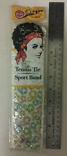 Vintage Headband! Tennis Tie Sport Band! With Gold Tone Slide Ring! NICE ITEM!