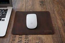 Genuine Real Leather Handmade Mouse Pad Antique Retro Classic Vintage Dark Brown