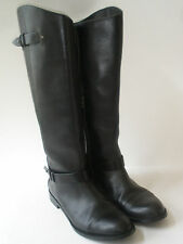 HALOGEN RIDING BOOT FINE BLACK LEATHER KNEE HI size US 9.5 HOT WOW!
