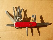 Victorinox Champion Swiss Army knife in red-old glass, minor wear, free Classic