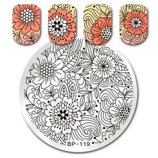 BORN PRETTY Nail Art Stamp Image Plate Template Floral Design Manicure BP-119