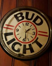 BUD LIGHT CLOCK NEON  Budwieser light bar mancave vintage