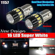 2X 1157 Projector High Power Chip LED White Front Turn Signal Light Bulbs