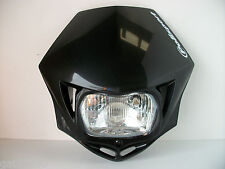 BLACK ROAD LEGAL HEADLIGHT STREETFIGHTER ENDURO GREEN LANING CUSTOM GSF ZXR GSXR