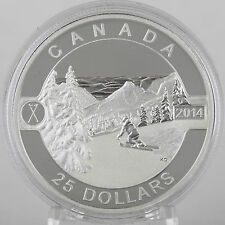 Canada 2014 $25 Skiing Canada's Slopes 1 oz Pure Silver Proof Coin O Canada #2