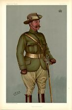 LORD CHESHAM BRITISH SOLDIER IN UNIFORM IMPERIAL YEOMANRY SWORD VANITY FAIR