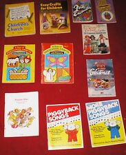 Lot of 10 Sunday School Children's Church Craft & Song Books