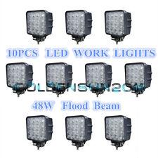 10X 48W Flood LED Off road Work Light Lamp 12V 24V car boat Truck Driving UTE