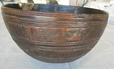 Large Tuareg wooden Bowl Niger thin walled fine traditional designs