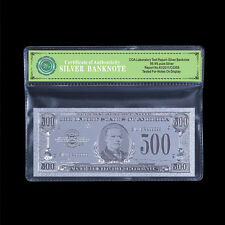 WR Silver $500 Dollar Bank Note US Banknote Uncirculated Bill + Certificate Gift