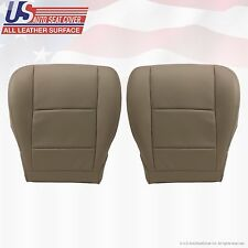 2001-2007 TOYOTA SEQUOIA Driver & Passenger Bottom All Leather Seat Cover Tan