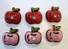 20 Apple Resin Flatback Crystal Rhinestone Button/Bead/Paper Craft/Card/Trim B70