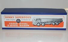 DINKY Reproduction Box 501 Foden Diesel  8-Wheel Wagon (1st cab) Quality Repro