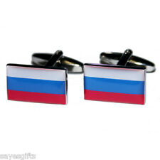 High Quality Russian Federation Flag Cufflinks