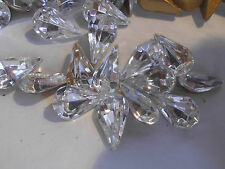 Swarovski 12 poires à façettes cristal 7,8x13mm