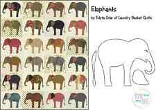 Elephants Applique Quilt Pattern & Stencil by Edyta Sitar Laundry Basket Quilts