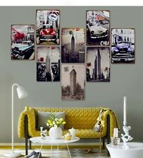 8PCS Modern Contemporary Metal Wall Art Work Painting Home Decor-car&Building