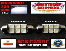 2x 36mm 6 LED Error Free Number Plate Bulbs BMW E36