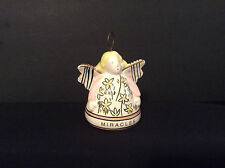 Russ Berrie Ceramic Angel Bell Ornament Miracles Messengers of Light collectible
