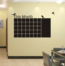 Pájaro planificador Mensual calendario Blackboard extraíble etiqueta de la pared del Reino Unido sh166