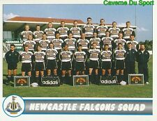 127 TEAM SQUAD  NEWCASTLE FALCONS STICKER PREMIER DIVISION RUGBY 1998 PANINI