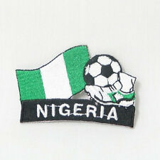 NIGERIA SOCCER FOOTBALL KICK COUNTRY FLAG EMBROIDERED IRON-ON PATCH CREST BADGE