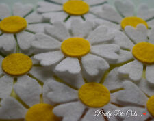 Felt Daisy Flowers (10) Die Cut Daisies Craft Embellishments
