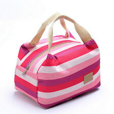 FASHION Picnic Insulated Food Storage Zipper Box Tote Bento Pouch Lunch Bag