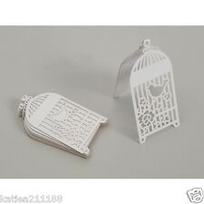 New wedding party something in the air white 10 birdcage placecards place name