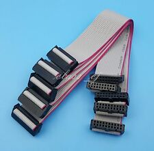 5Pcs 20Pin IDC Flat Ribbon DATA Cable 20cm 2.54mm Pitch AVR ISP JTAG  Wire