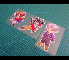 3 Pics Pan & kid Goku SS4 &Trunks DRAGON BALL GT Car Reflective Sticker #017