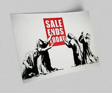 ACEO Banksy Sale Ends Soon Graffiti Street Art on Canvas Giclee Print