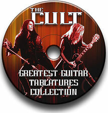 THE CULT HEAVY ROCK GUITAR TABS TABLATURE SONG BOOK  SOFTWARE LIBRARY CD