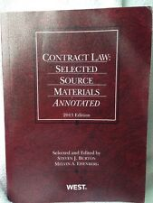 Contract Law: Selected Source Materials Annotated, 2013 by Burton & Eisenberg