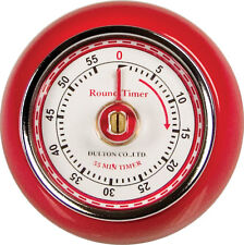 Fox Run Retro Red 60 Minute Kitchen Timer Magnet Espresso Cake Roast Baking New