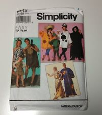 Simplicity 9945 Kids Costume Pattern Cave Man Egyptian Card King Scarecrow