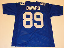 MARK BAVARO unsigned Giants blue current style jersey mens adult XL