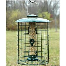 "Woodlink Caged 6 Port Seed Tube Feeder WLC6S Bird Feeder 11"" Dia x 16.5"" H NEW"