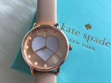 Kate Spade Vachetta Heart Metro Watch KSW1254 Rose Gold Mother of Pearl