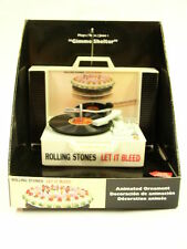 Official Rolling Stones Musical Animated Record Player Christmas Ornament OOP