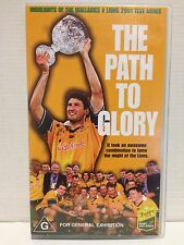 THE PATH TO GLORY ~RUGBY UNION~WALLABIES v LIONS 2001 TEST HIGHLIGHTS ~VHS VIDEO