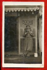 CIRCUS TENT ANIMAL TRAINER VINTAGE PHOTO POSTCARD USED 3589