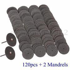 120pcs resina taglio ruota disco set kit mandrino + 2 Mandrels 1/8'' Per Dremel