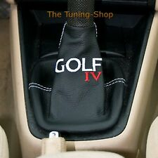 FITS VW VOLKSWAGEN GOLF 4 IV MK4 MKIV GEAR BOOT COVER REAL LEATHER EMBROIDERY