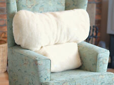 Deluxe Faux Armchair Sheepskin Back Lumbar Support Pillow Cushion Soother Fleece