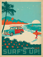 """Surf's Up! - Anderson Design Group Poster - 24"""" x 31"""""""